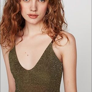Express Metallic Fitted Cami